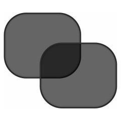 Sluneční clona 2 ks černá - ovál