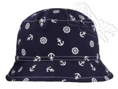 Letní klobouček s potiskem KOTVIČEK modrý RDX