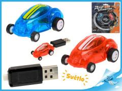 Auto závodní na baterii se světlem s USB dobíjením