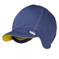 Čepice softshell tm.modrá/žlutá