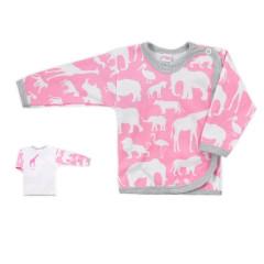 Kojenecká košilka Bobas Fashion Africa růžová