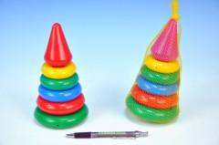 Skládačka pyramida s kroužky