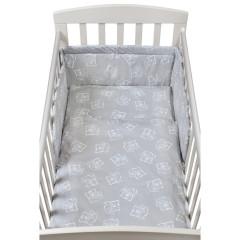 3-dílné ložní povlečení New Baby 90 x 120 cm bears šedé