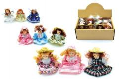 Miniaturní panenka porcelán