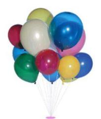 Balónky Koule - směs kulatých balónků 5 ks se sirénkou