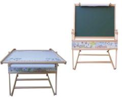 Oboustranná dřevěná tabule + stolek 2v1 MAGNETICKÁ
