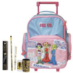 Školní batoh Cool trolley set - 6dílná sada - doplňky Hollywood