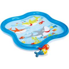 Dětský bazének mělký s rozstřikováním 140x140x11 cm Intex 57126