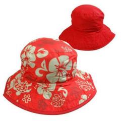 Dětský UV klobouček Baby Banz květ červený oboustranný 0–2 roky