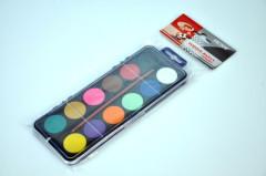 Vodové barvy 12 barev v sáčku
