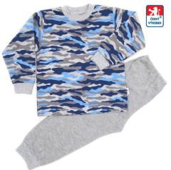 Bavlněné pyžamo maskáč modro-šedý vel. 92