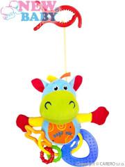 Plyšová hračka s chrastítkem hroch - závěsná hračka