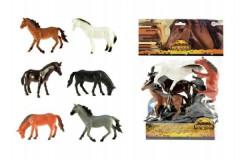Kůň 6ks plast 13-14cm