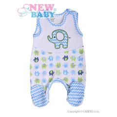 Kojenecké dupačky New Baby Sloník bílo-modré vel. 62