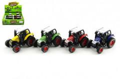 Kovový traktor na zpětné natažení 9cm
