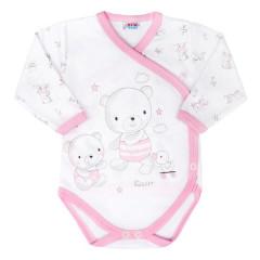 Kojenecké body s bočním zapínáním New Baby Bears Růžové