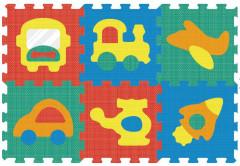 Pěnové puzzle - koberec zrcadlo doprava 32 x 32 cm, 6 dílků