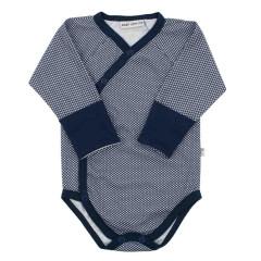 Celorozepínací body dl. rukáv s rukavičkami Hvězdičky modrá Baby Service