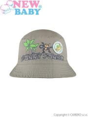 Letní dětský klobouček New Baby Funny Jungle vel. 98 ZELENÝ