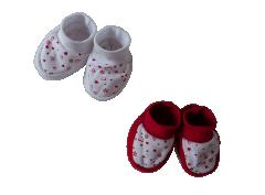Kojenecké bavlněné capáčky Srdíčka Baby Service