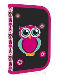 Penál 1patrový 2 chlopně Oxy Pink Owl