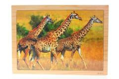 Puzzle dřevěné žirafy 25 dílků