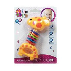 Chrastítko žirafka s barevnými kroužky 3m +
