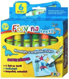 Fixy na textil vodě odolné 6ks