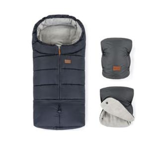 Zimní set fusak Jibot 3v1 + rukavice na kočárek Jasie Petite & Mars