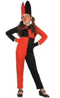 Šaty na karneval - šašek, 120-130 cm