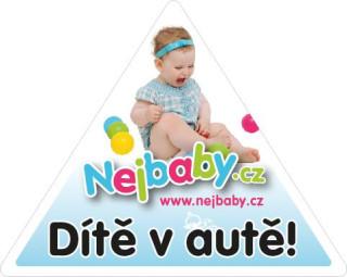 Nálepka na auto Dítě v autě Nejbaby.cz