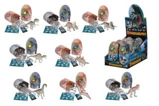 Figurka dinosaura ve vajíčku