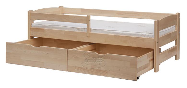 Šuplíky k posteli Scarlett SISI - 2kusy - přírodní nezobra