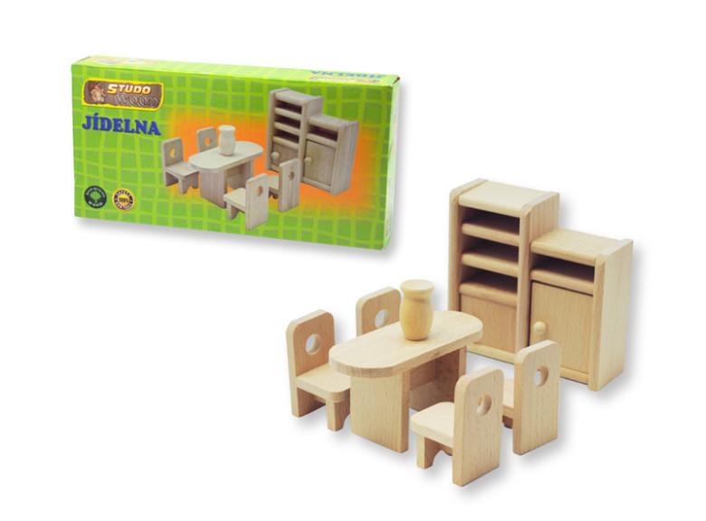 Dřevěný nábytek pro panenky - jídelna