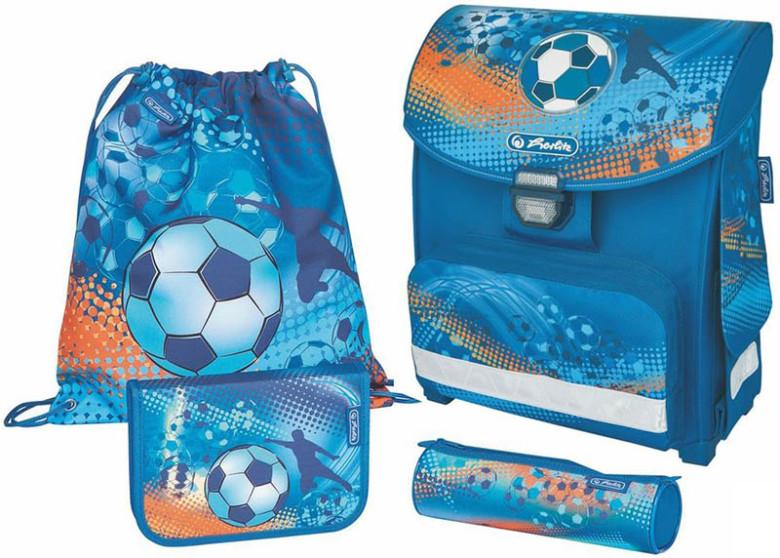 Herlitz Školní taška Smart fotbal vybavený SET