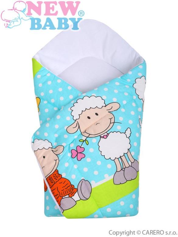 Dětská zavinovačka New Baby ovečky tyrkysová