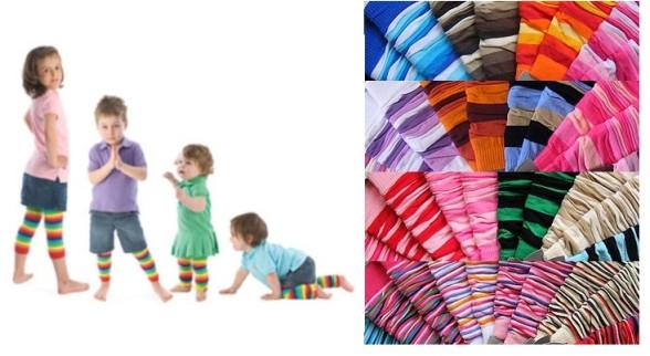 Design Socks Dětské návleky na nožičky proužkované