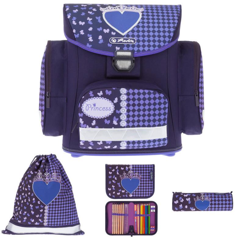 Školní batoh Herlitz Midi srdce vybavený SET