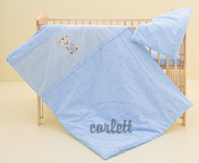 Dětské povlečení 2dílné Méďa - modré 100 x 135 cm