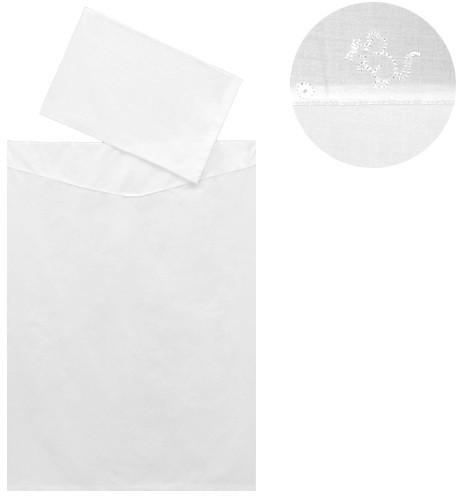 Dětské povlečení 2dílné Melisa bílá 130 x 90 cm ČR