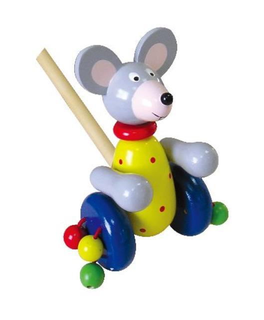 Myška na tyči dřevěná