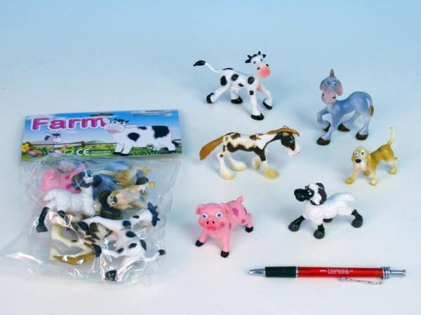 Zvířátka farma veselá plast 6ks v sáčku nezobra