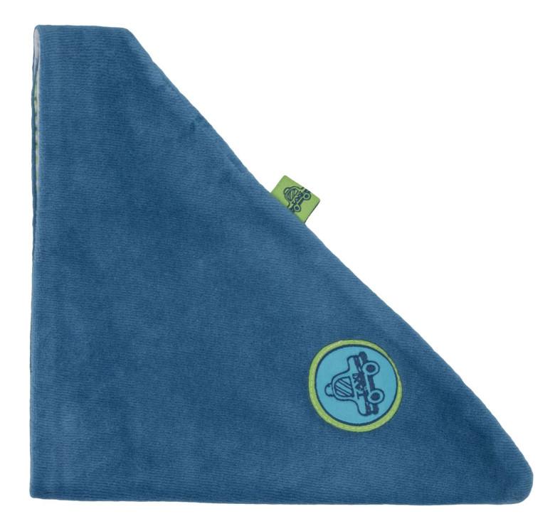 Šáteček/slintáček velurový modrý G-mini