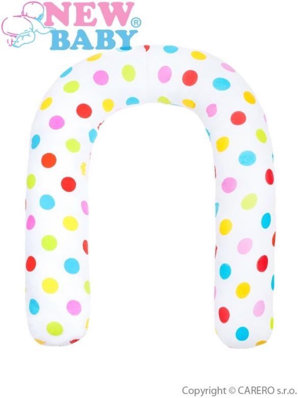 Univerzální kojící polštář New Baby bílý puntíky nezobra