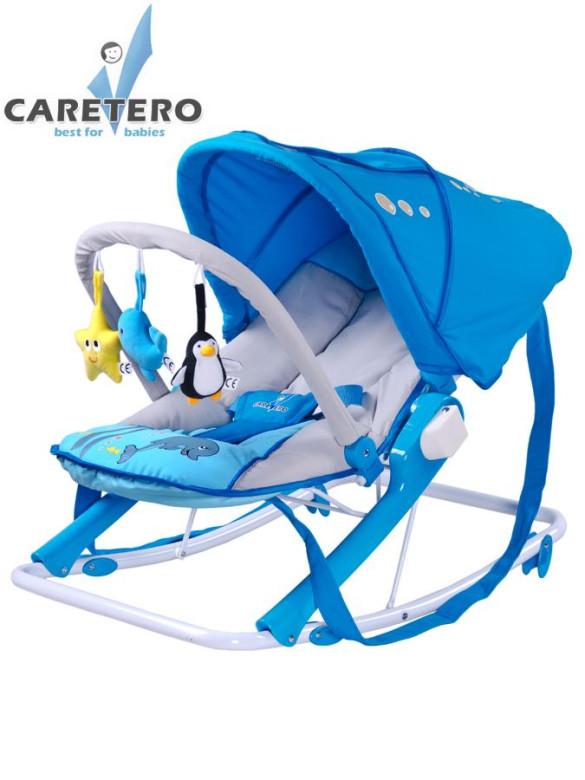 Dětské lehátko CARETERO Aqua blue ne