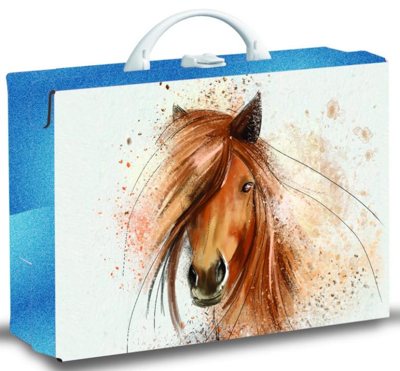 Dětský kufřík hranatý Kůň