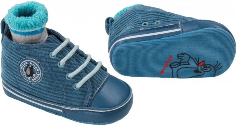 Capáčky + ponožky KRTEK Gmini vel.3 - MODRÉ