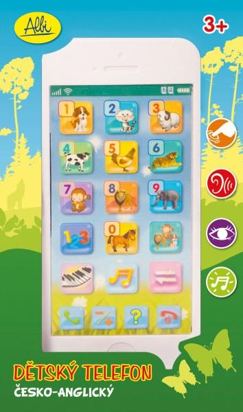 Albi - Bílý dětský telefon nezobra