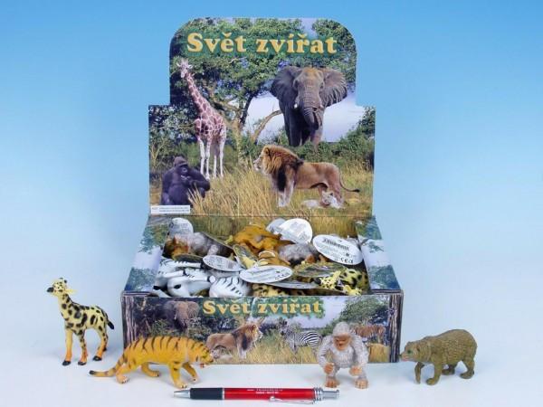 Zvířátka safari/ZOO plast 8-13cm 1 ks