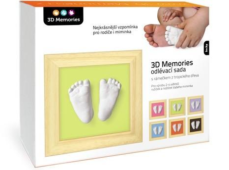 3D Memories 3D Memories odlévací sada baby pro 3D odlitek ručiček a nožiček - mělký rámeček
